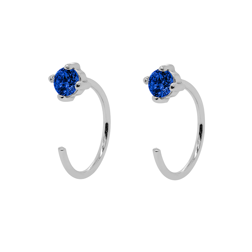 Sapphire Open Huggies Earrings