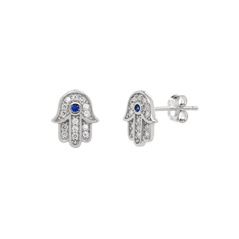 Sparkle Hamsa Stud Earrings