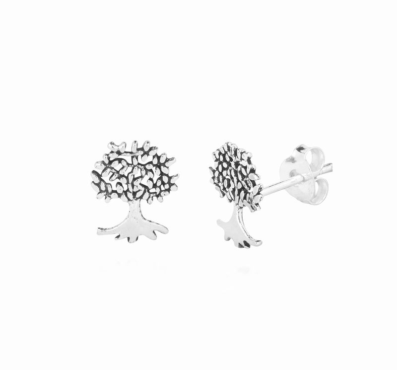 Lively Tree Stud Earrings