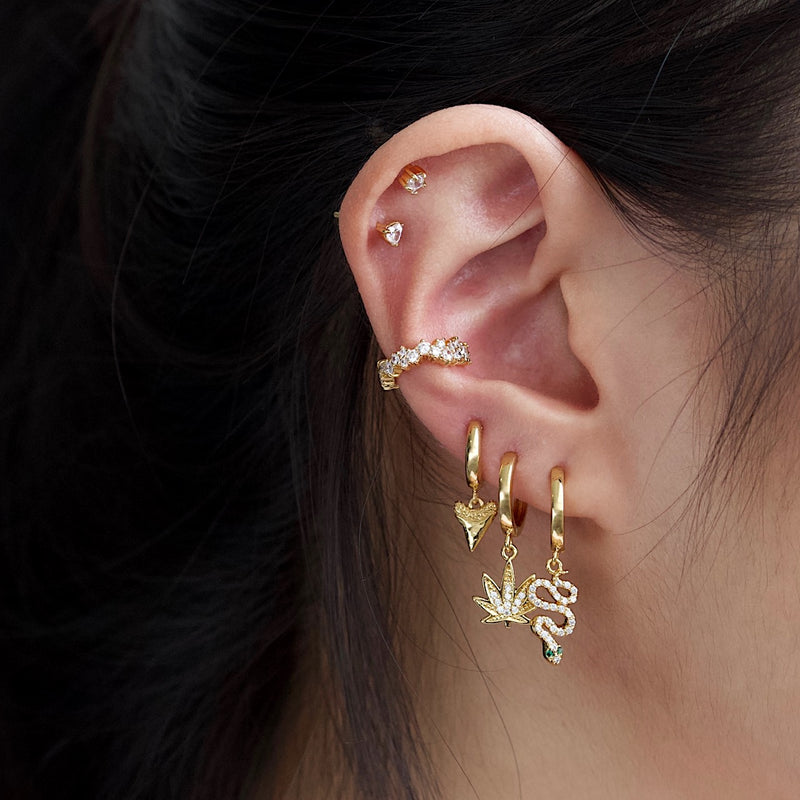 Encrusted Pave Ear Cuff