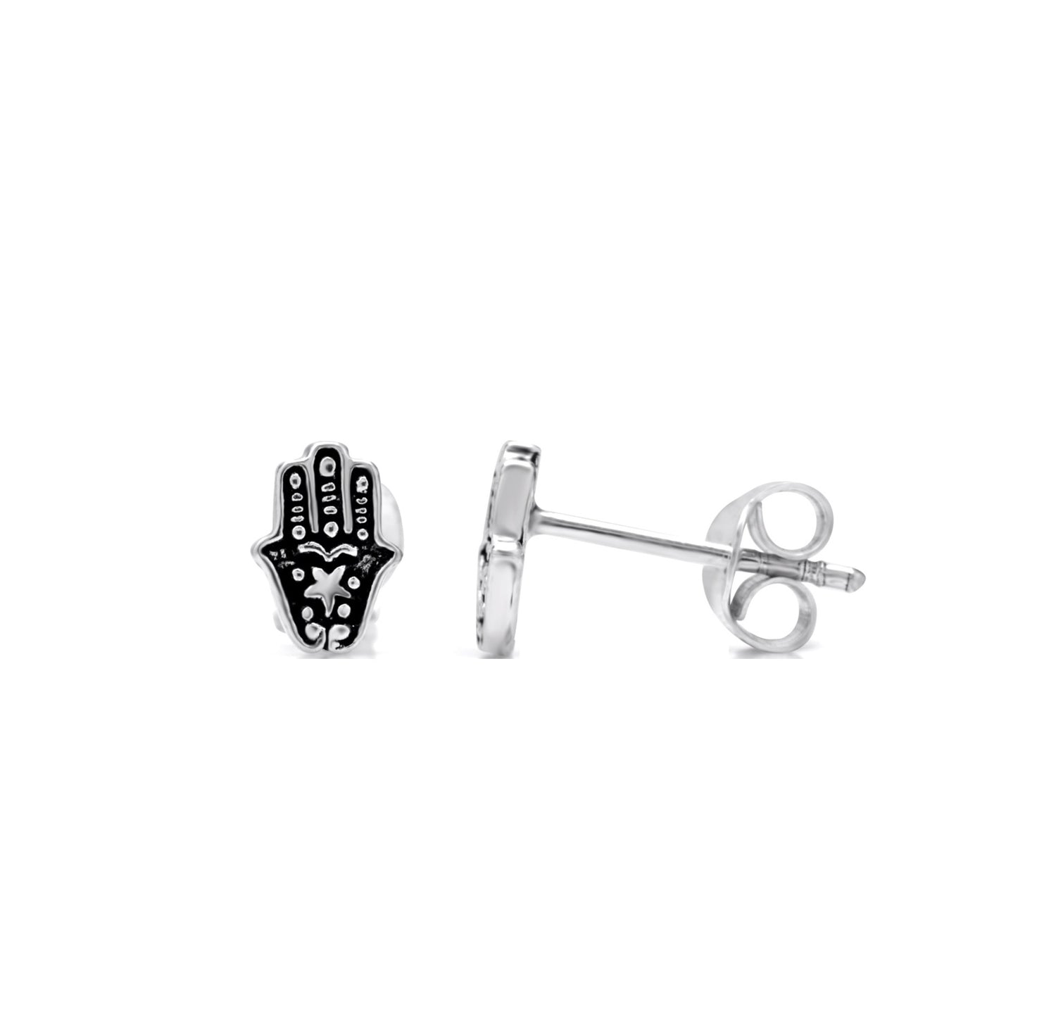 Baby Hand of Fatima Stud Earrings