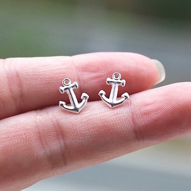 Sea Anchor Stud Earrings
