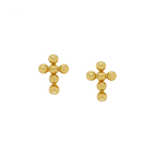 Bubble Cross Stud Earrings