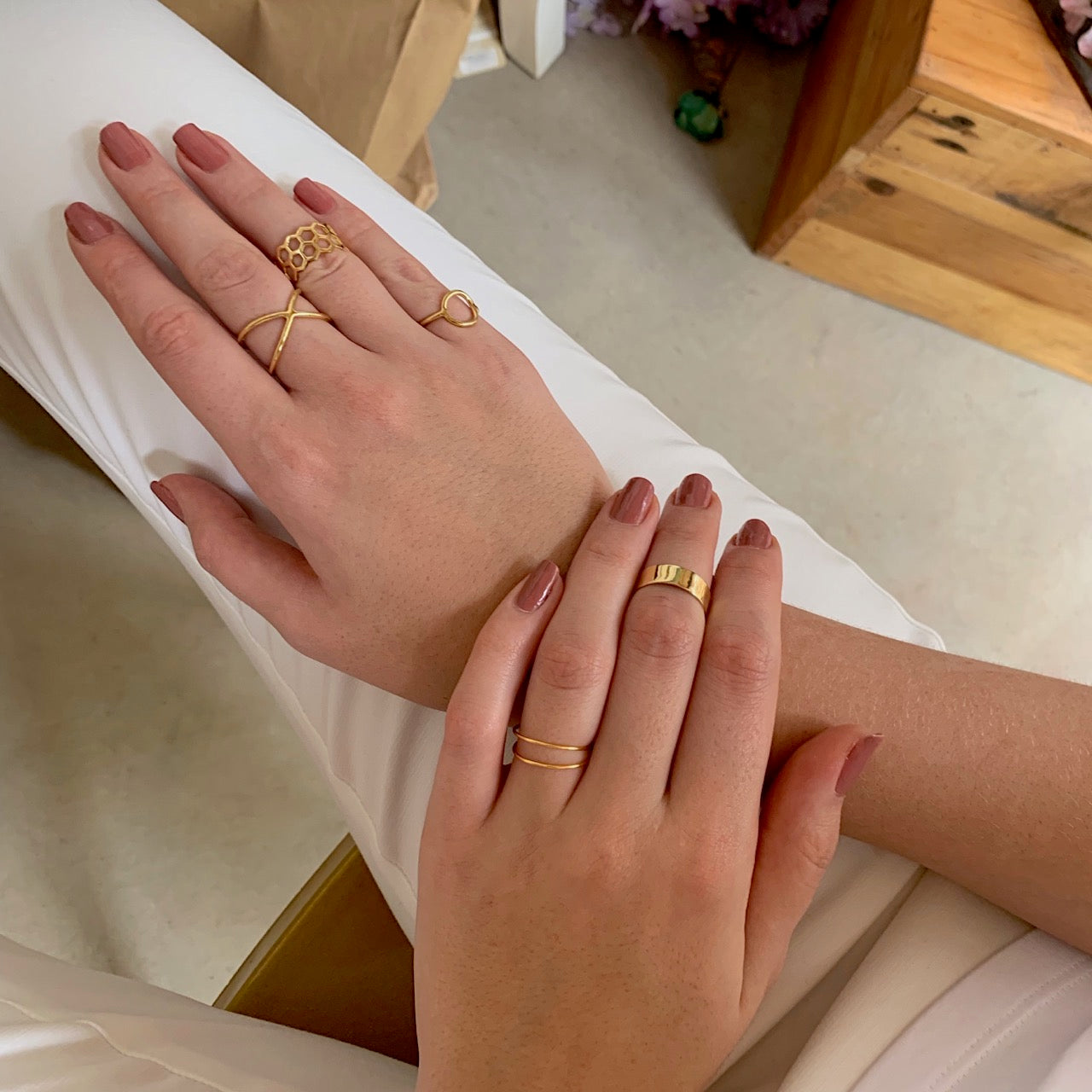 Criss Cross Ring Gold