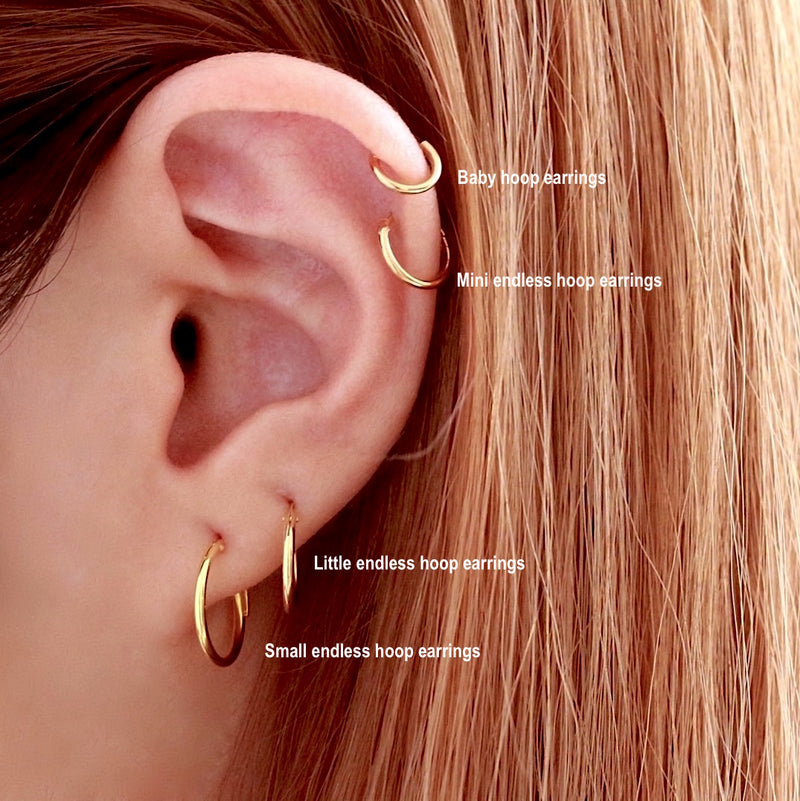 Small Endless Hoop Earrings