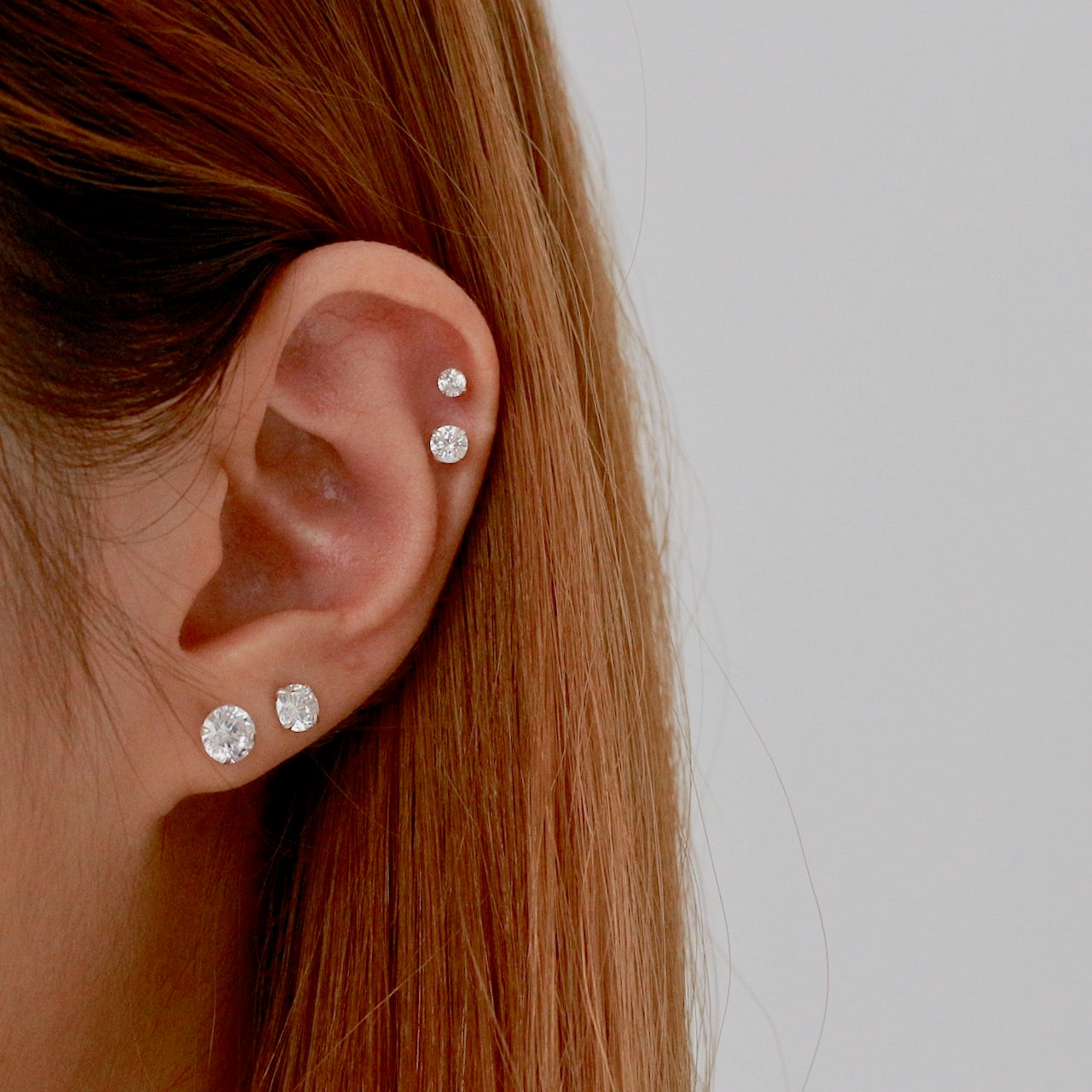 Sparkly CZ Stud Earrings