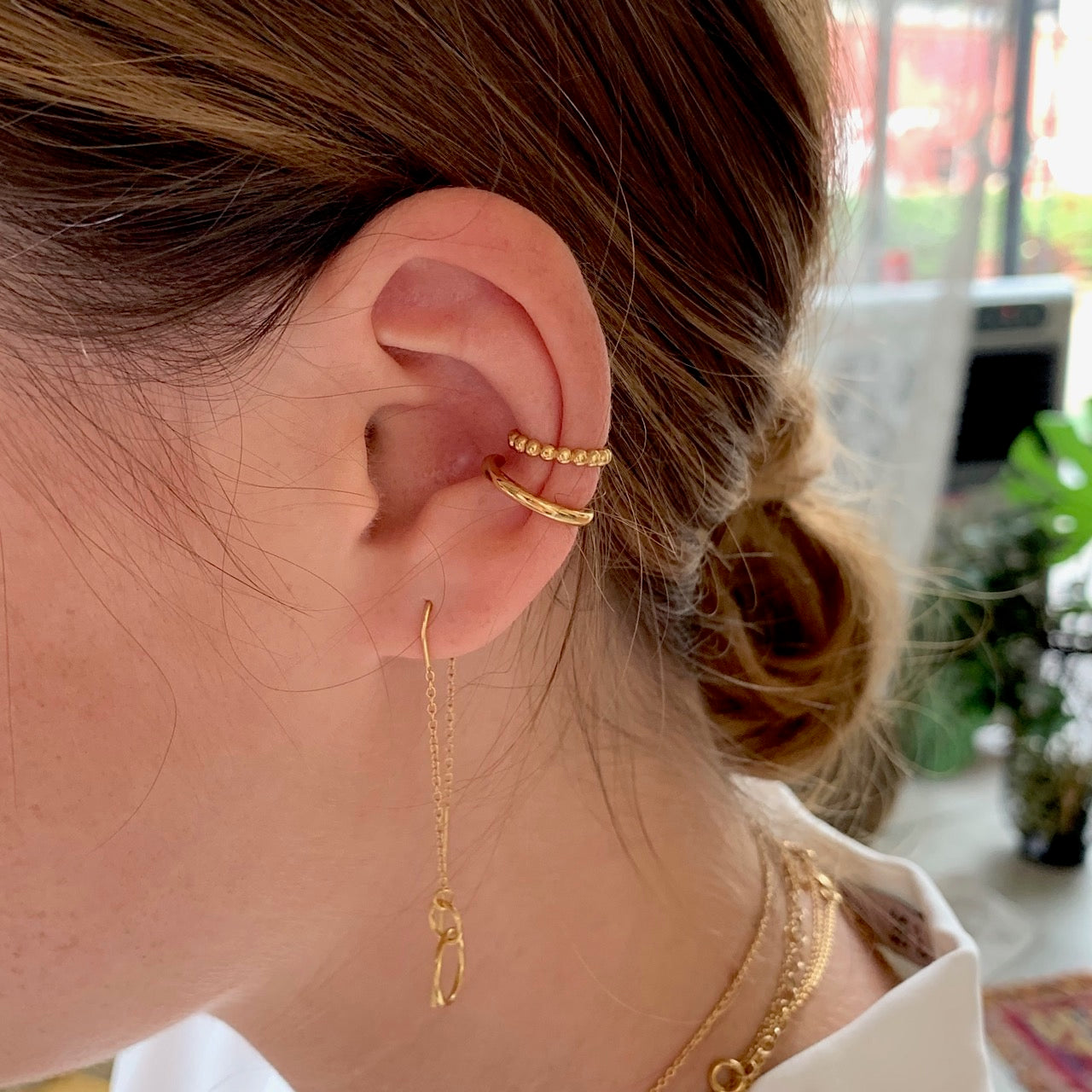 Bubble Ball Ear Cuff