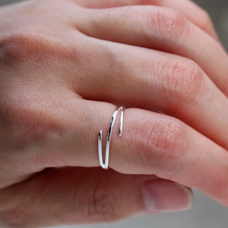 Stylish Trois Ring Silver