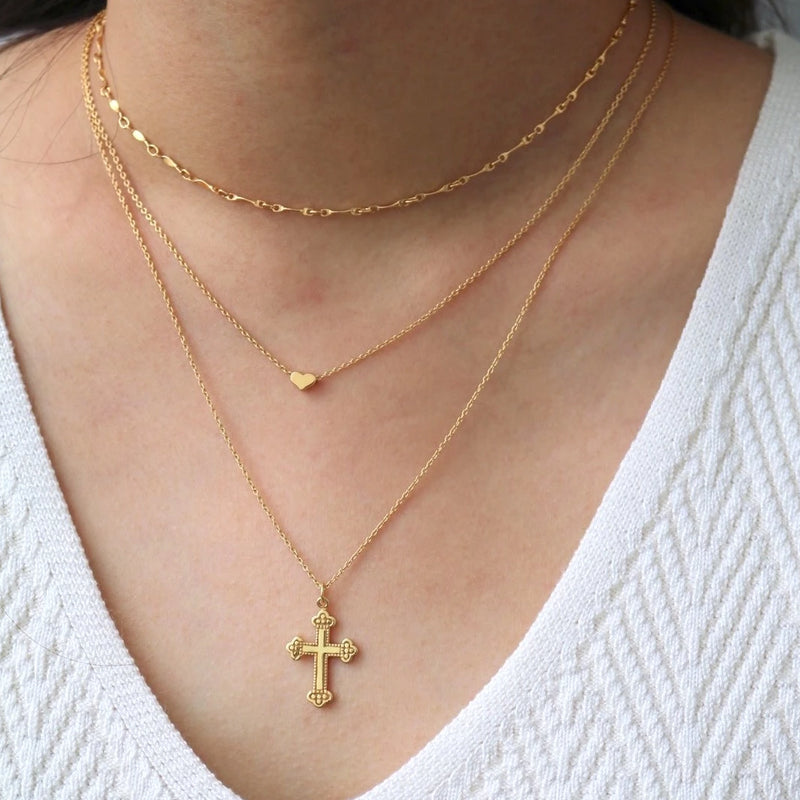 Roman Cross Necklace