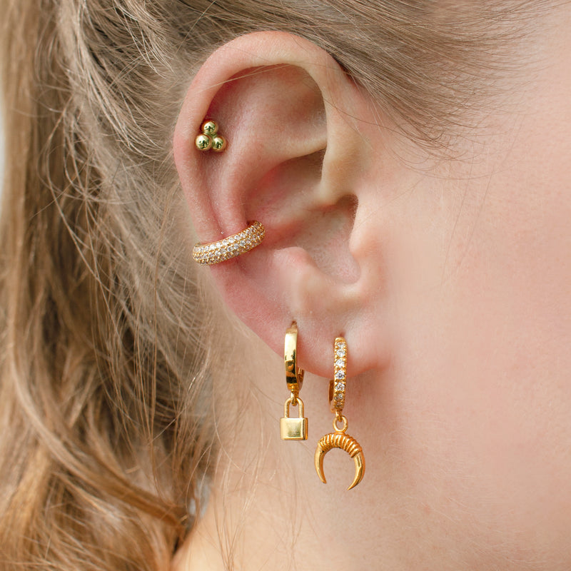 Love Lock Huggie Earrings