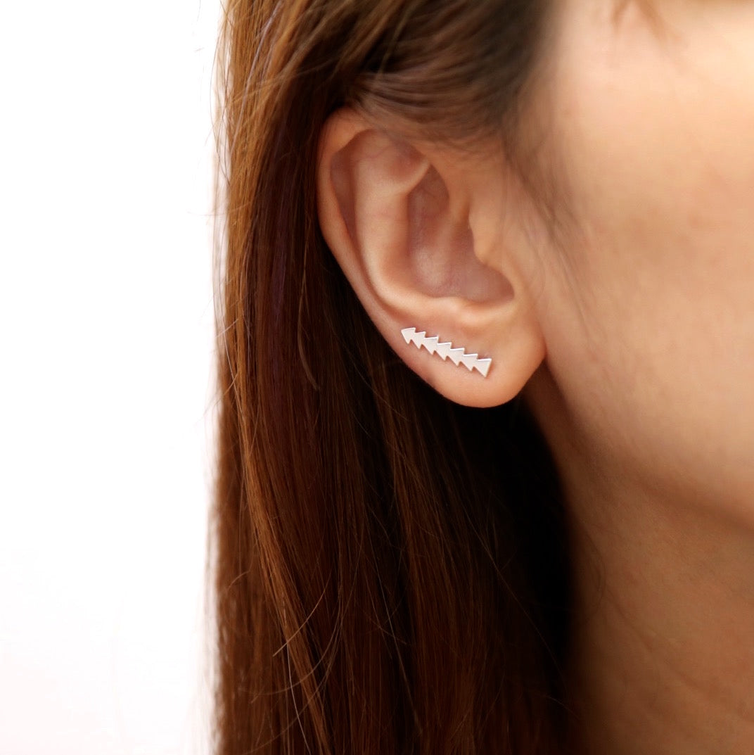 Triangle Chic Ear Climber Earrings