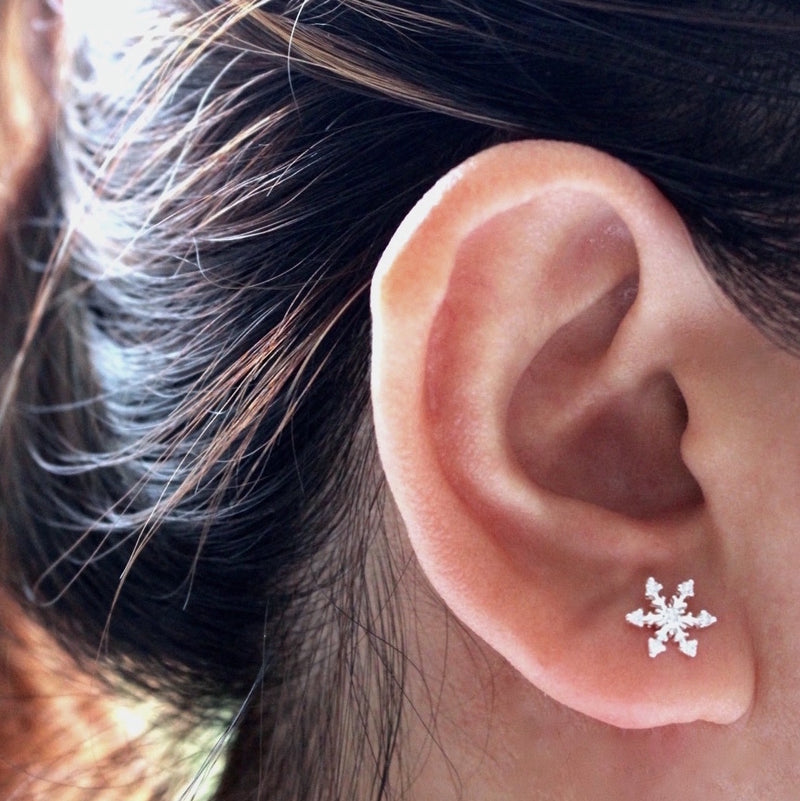 Sparkly Snowflake Stud Earrings