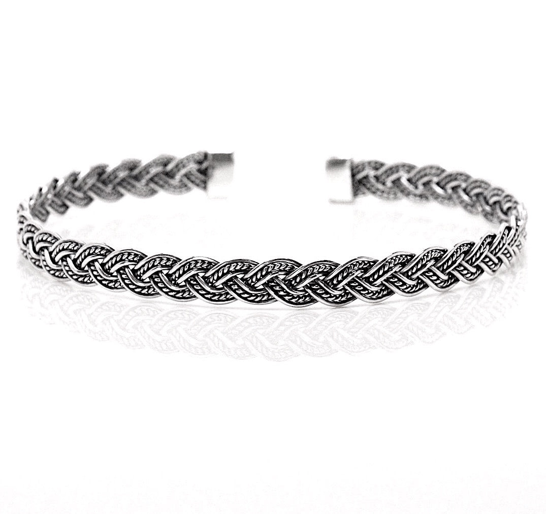 Weave Braided Cuff Bangle