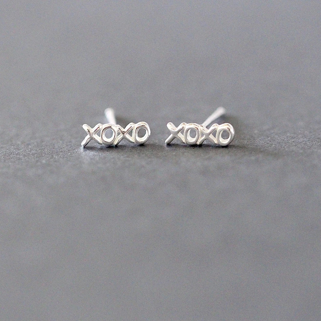 Hugs and Kisses Stud Earrings