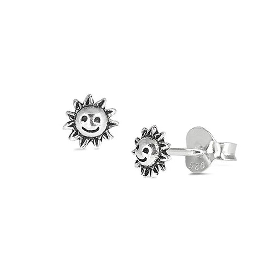 Smiley Sun Stud Earrings