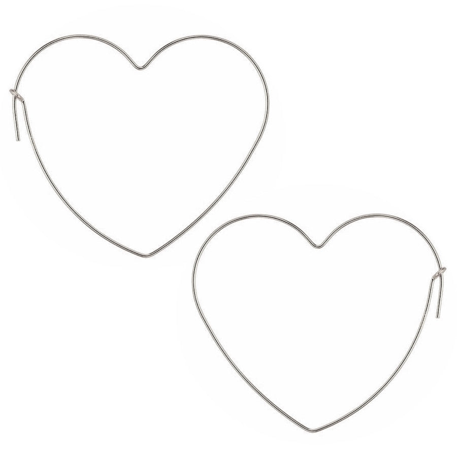 Sleek Big Heart Hoop Earrings