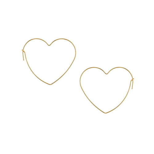 Sleek Small Heart Hoop Earrings