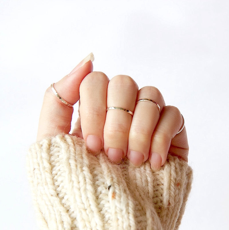 Skinny Knuckle Ring Silver