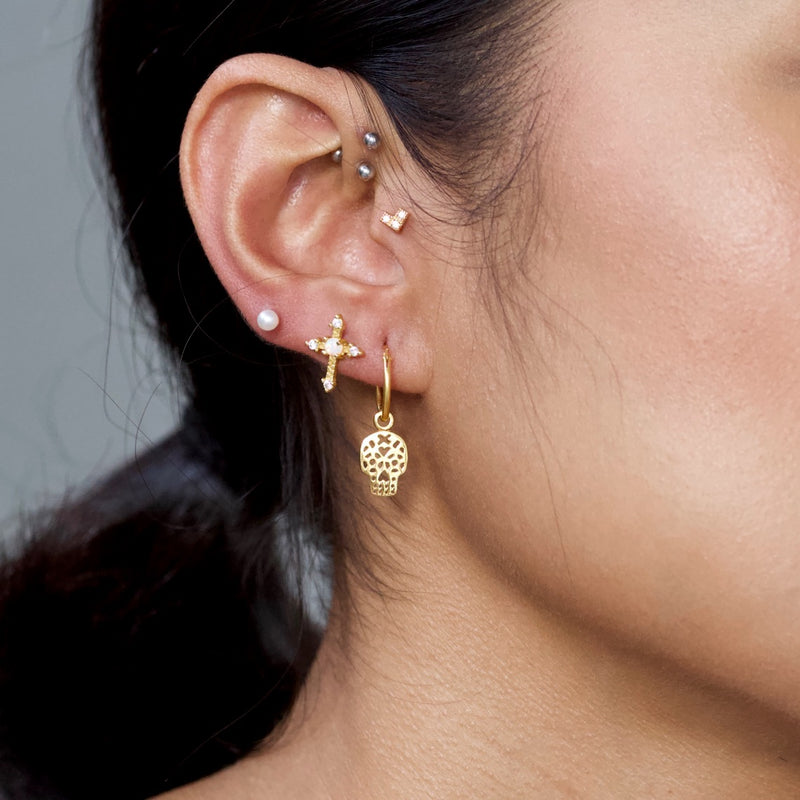 Opulent Cross Stud Earrings