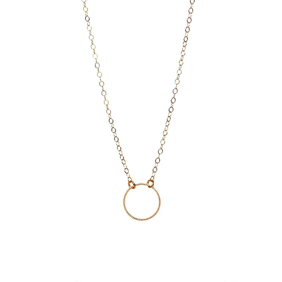Circle Twist Gold Necklace