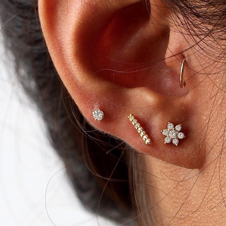 Luscious Flower Stud Earrings
