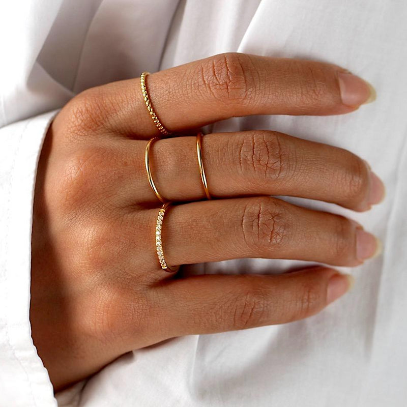 Skinny Stacking Ring Gold