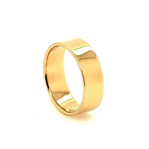 Thick Stacking Ring Gold