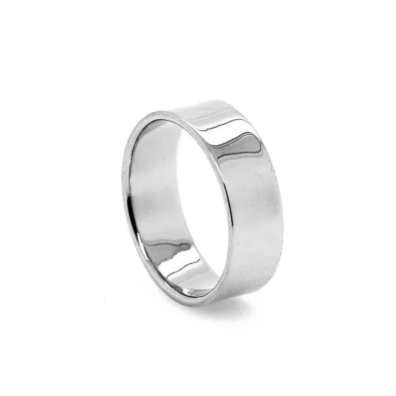 Thick Stacking Ring Silver