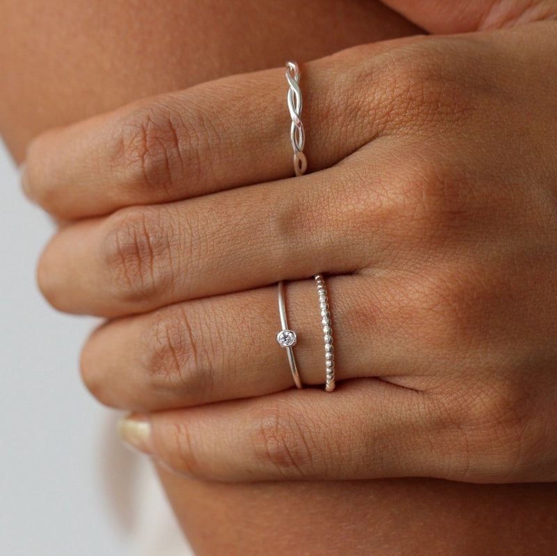 Mini Bezel Ring Silver