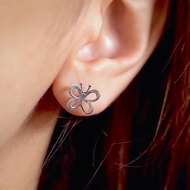 Airy Butterfly Stud Earrings