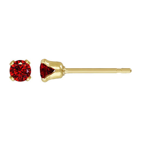 Sparkly Small Birthstones Stud Earrings