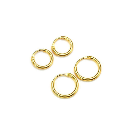 Mini Endless Hoop Earrings Set