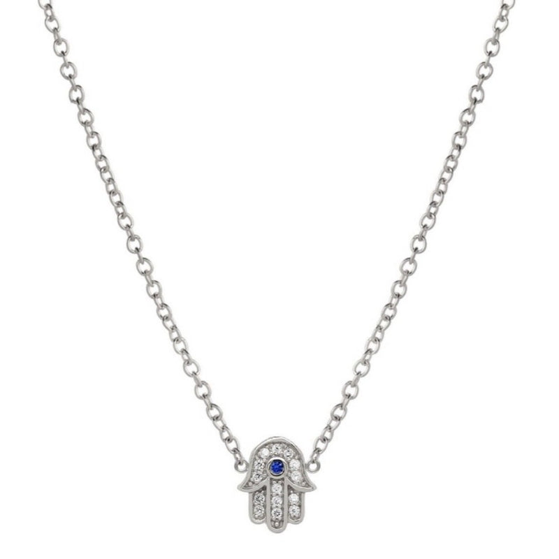 Sparkle Hamsa Necklace