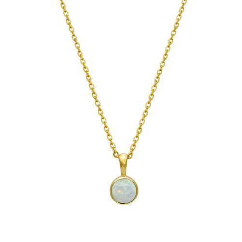 Opal White Necklace