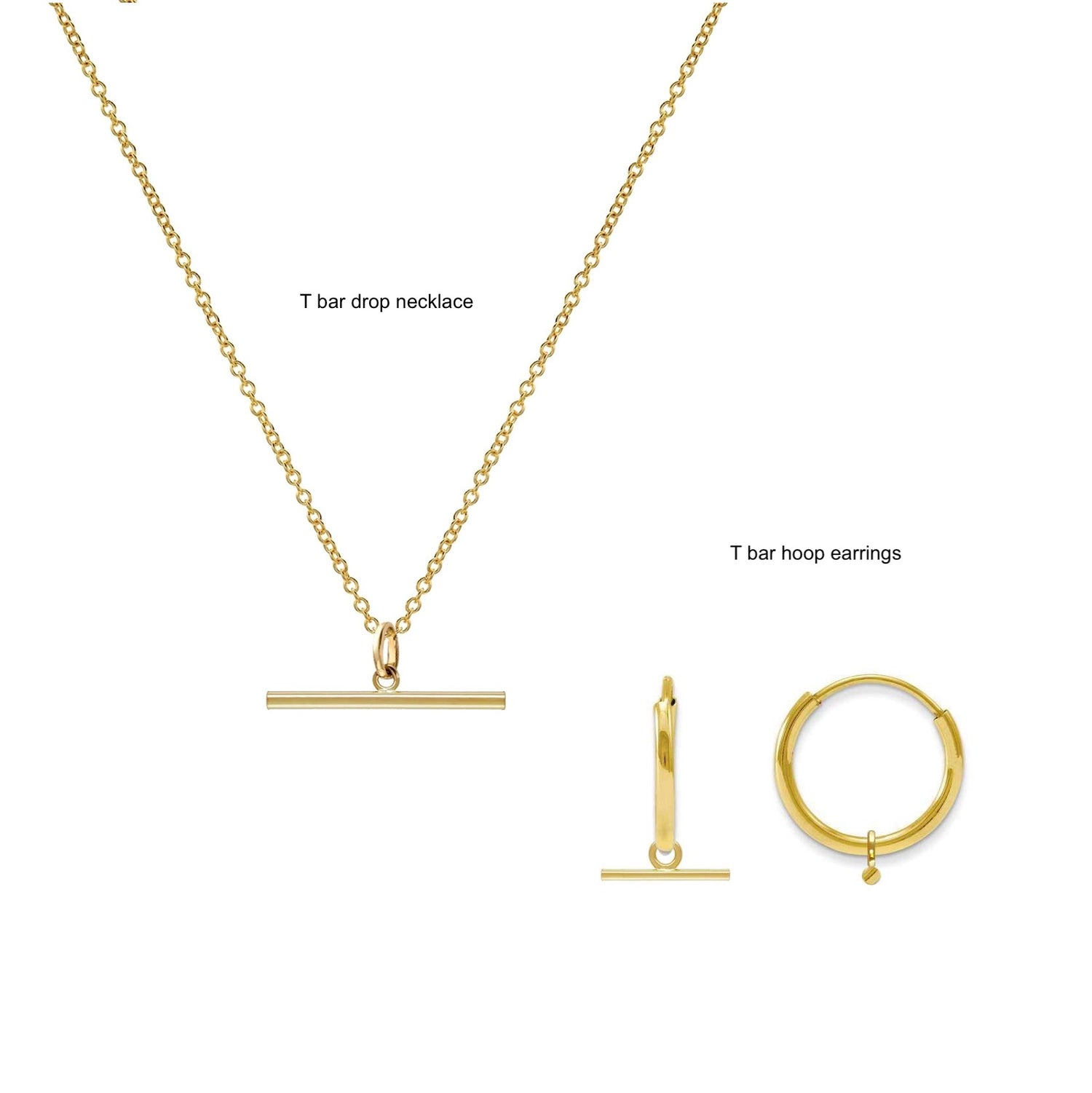 T Bar Drop Necklace