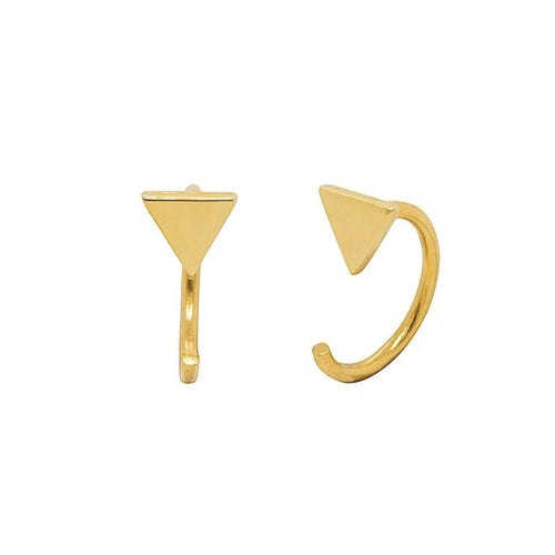 Mia Triangle Huggie Earrings