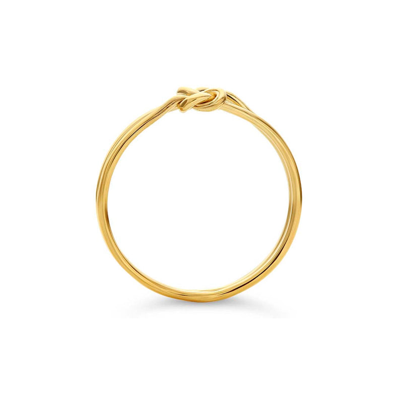 Infinity Double Love Knot Ring Gold