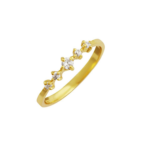 Tiara Pave Ring Gold