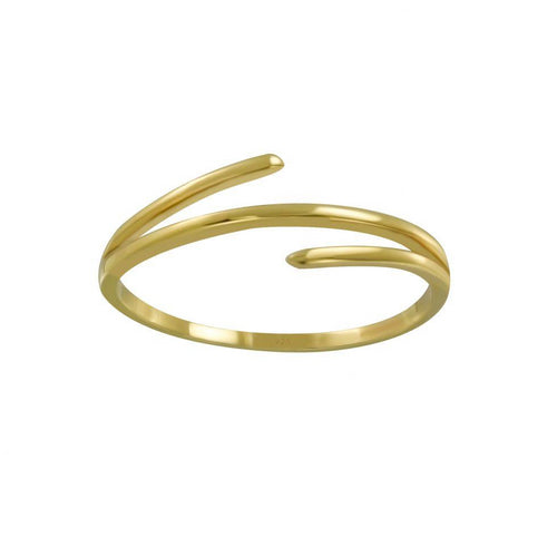 Stylish Trois Ring Gold