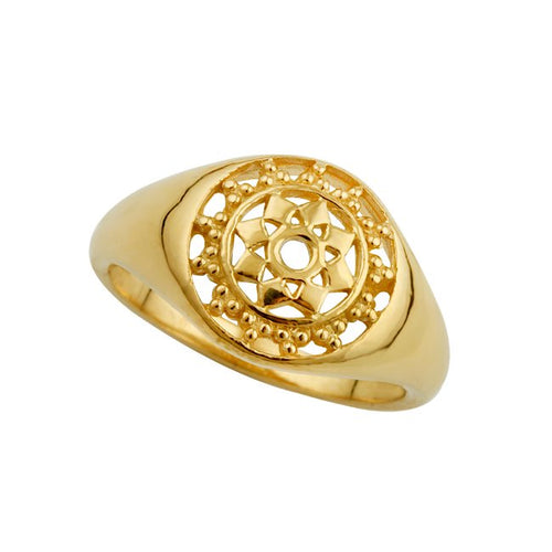 Goddess Signet Ring Gold