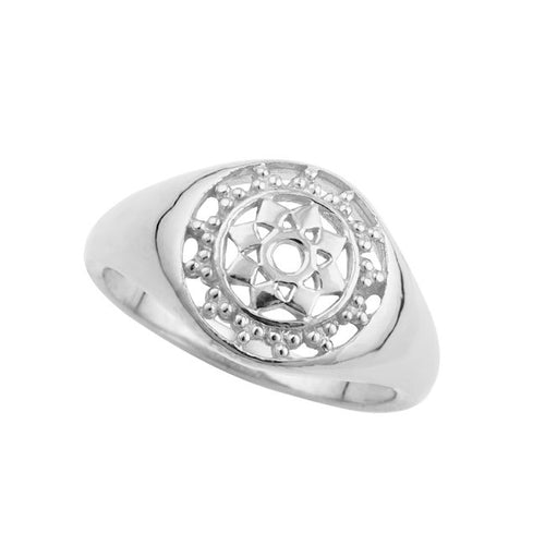 Goddess Signet Ring Silver