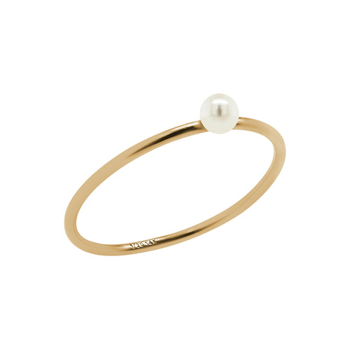 Mini Pearl Ring Gold