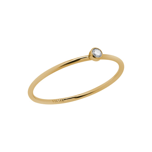 Mini Bezel Ring Gold