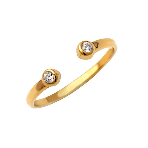 Open Bezel Ring Gold