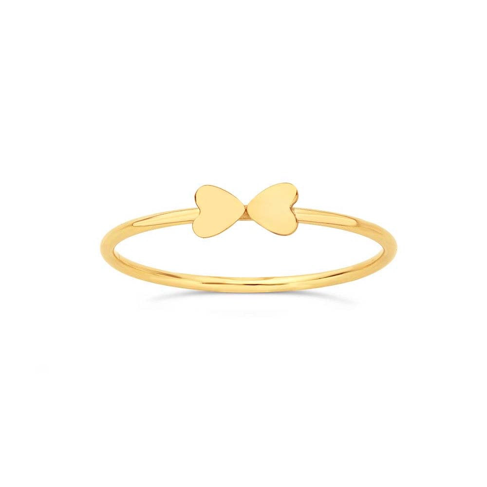 Double Gold Heart Ring