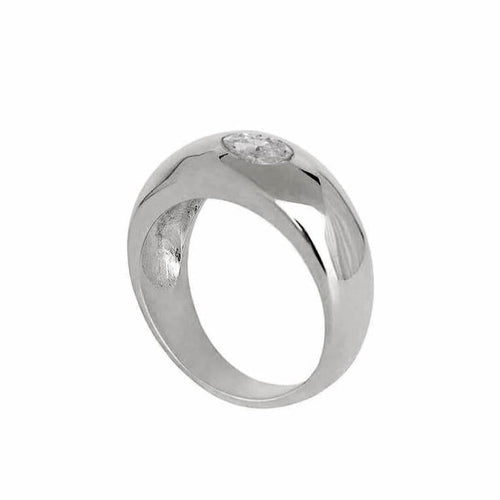 Marquise Dome Ring Silver