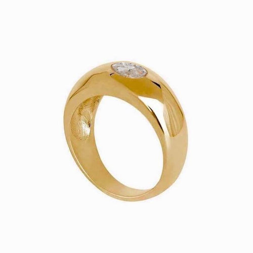 Marquise Dome Ring Gold