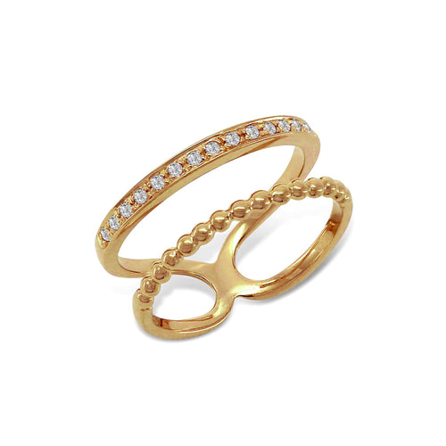 Statement Double Ring Gold