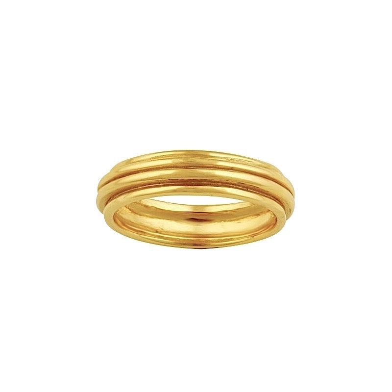 Elena Ridge Ring Gold