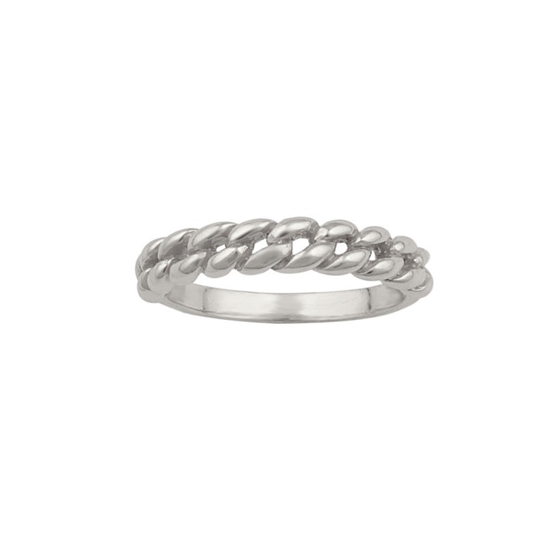 Delilah Chain Ring Silver